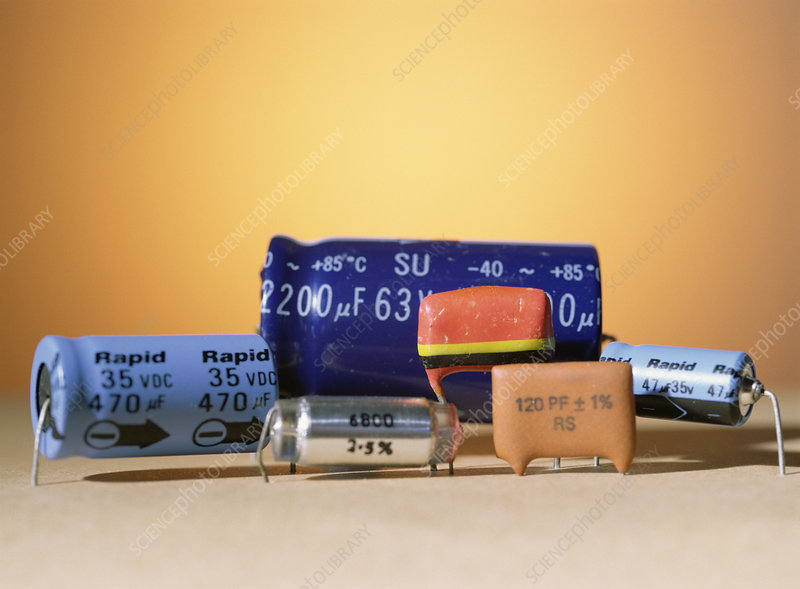 Assorted capacitors