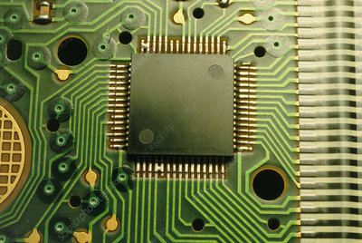 Circuit board with control chip