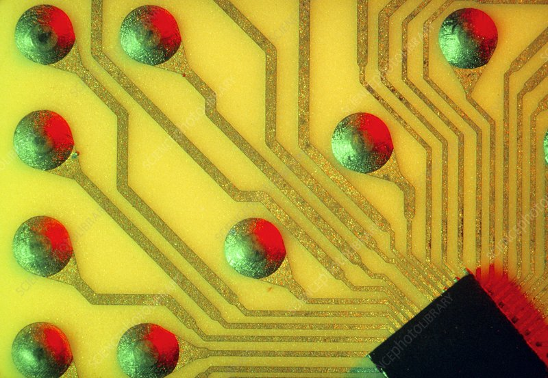 Integrated circuit in close-up