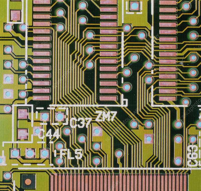 Macrophotograph of a circuit board
