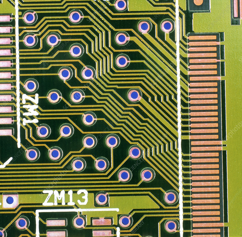 Macrophotograph of printed circuit board