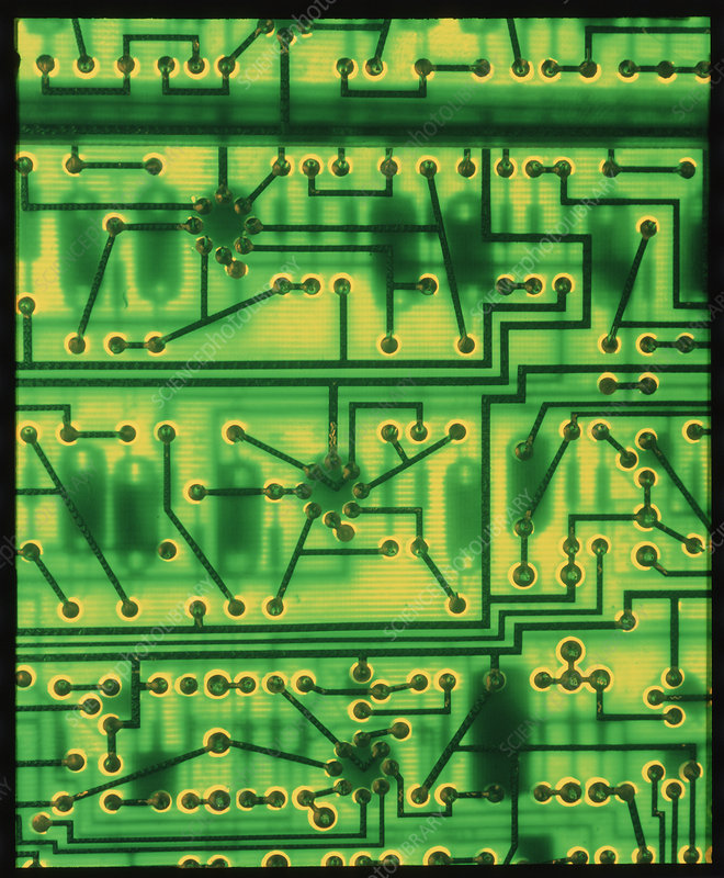 Macrophoto of surface of a circuit board