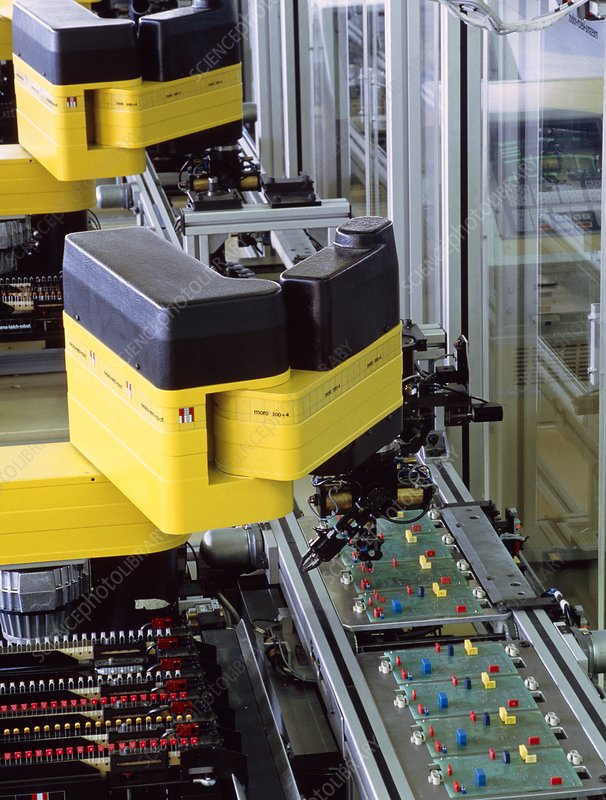 Robot used during manufacture of circuit boards