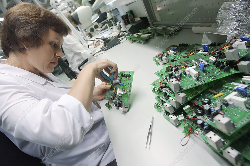 Circuit board assembly work