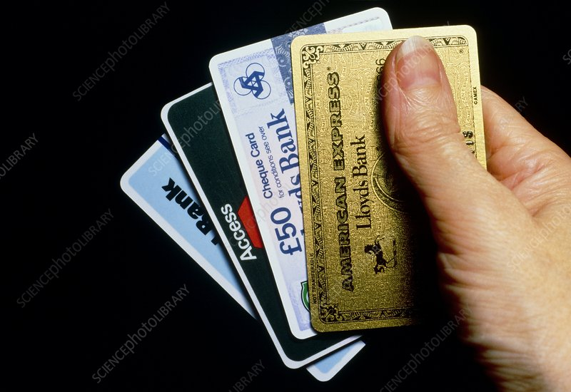 Handful of credit cards