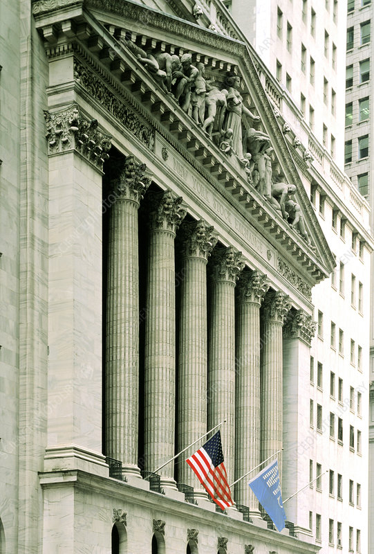 Frontage of New York Stock Exchange building