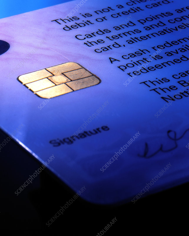 Close-up of part of a smart card