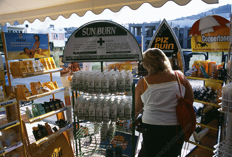 Shopping for sunscreen