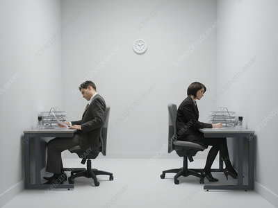 Office workers at desks