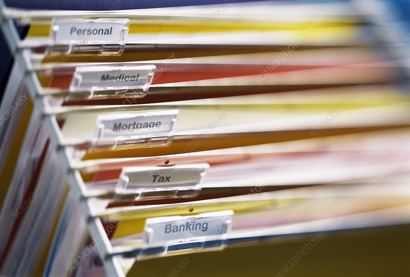 Personal documents in files