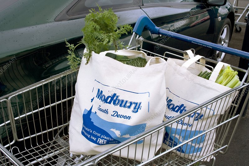 Modbury reusable shopping bags