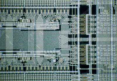 LM of a part of UV EPROM integrated circuit