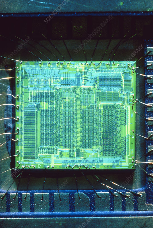 Mos technology 6502 microprocessor - Stock Image - T370/0065