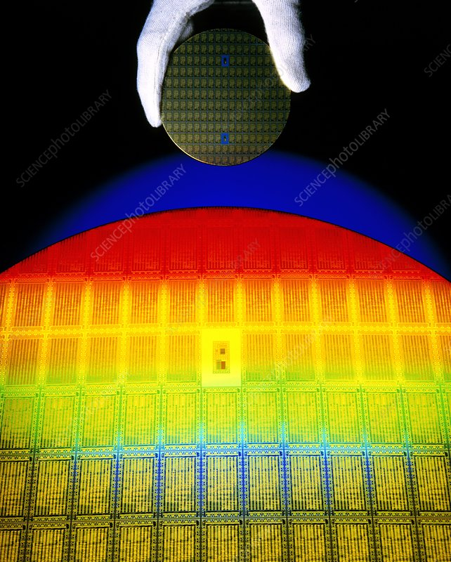Silicon Sunrise: integrated circuit wafer