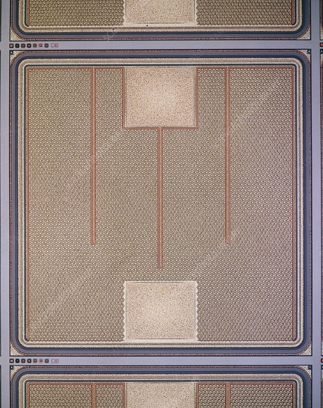 Surface of Ferranti field effect transistor chip