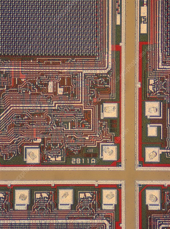 LM of a wafer of integrated circuits