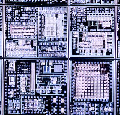 LM of surface of integrated circuit