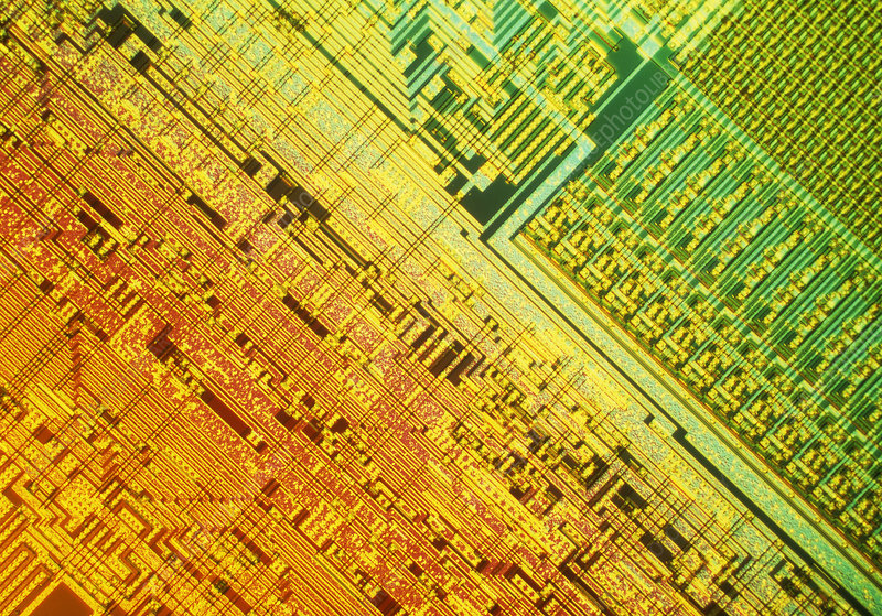 Surface of microchip