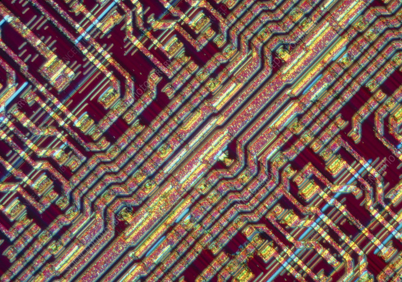 LM of surface of an integrated circuit