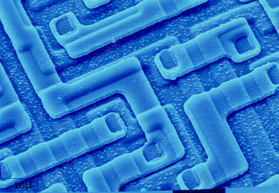 SEM of integrated circuit fron Computer's