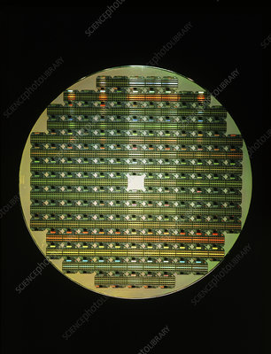 Macro of IBM 4 MByte memory chip wafer