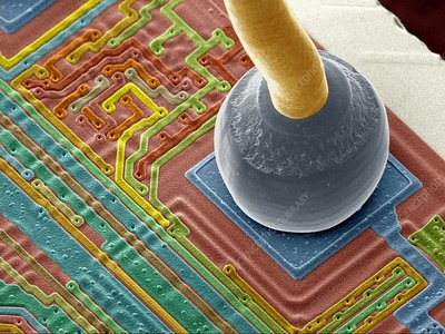 Silicon chip micro-wire, SEM
