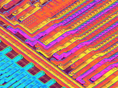 Microchip surface, SEM