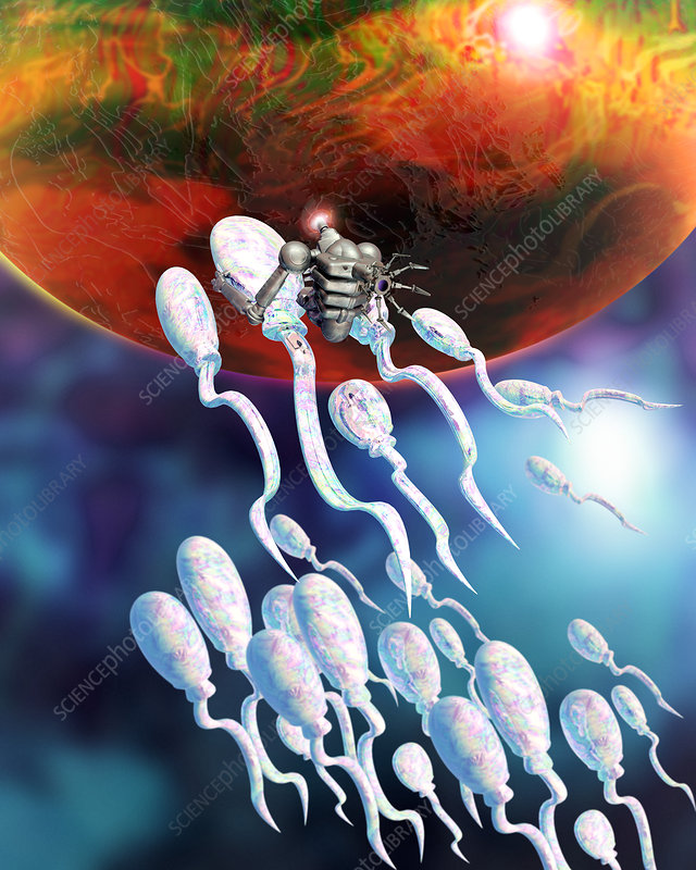 Medical nanorobot on sperm cell