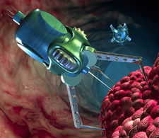 Nanorobot attacking cancer