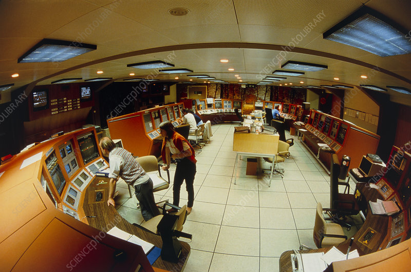 View of main accelerator control room at CERN