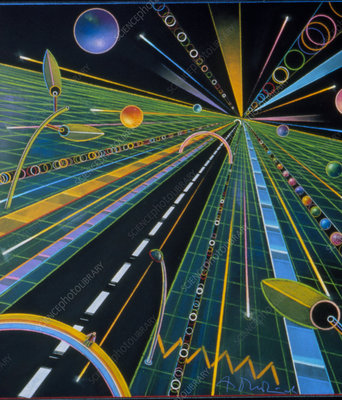 Abstract artwork of the information superhighway