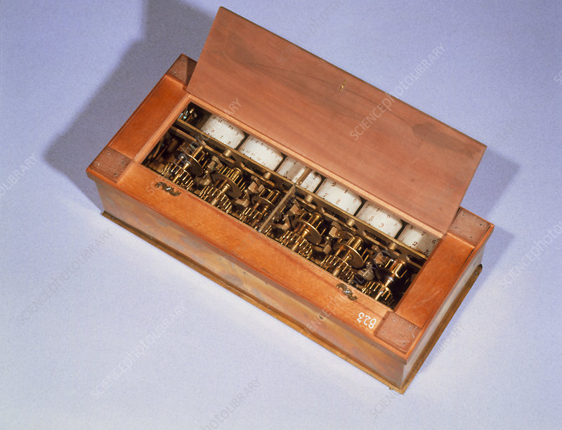 A pascaline, calculating machine