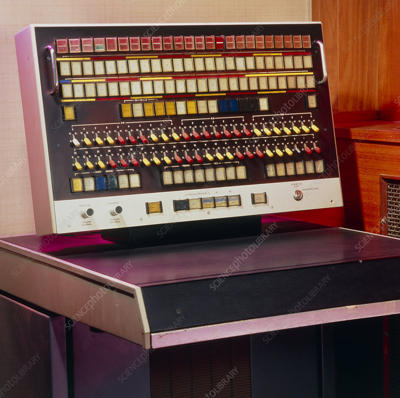 Console of the Atlas 1 computer built in 1964