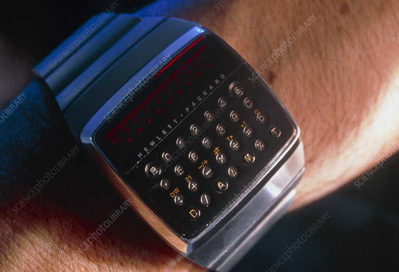 First digital calculator wristwatch