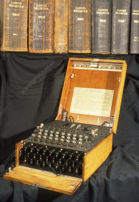 Enigma encryption machine used in World War 2