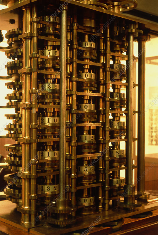 Remains of Babbage's original difference engine