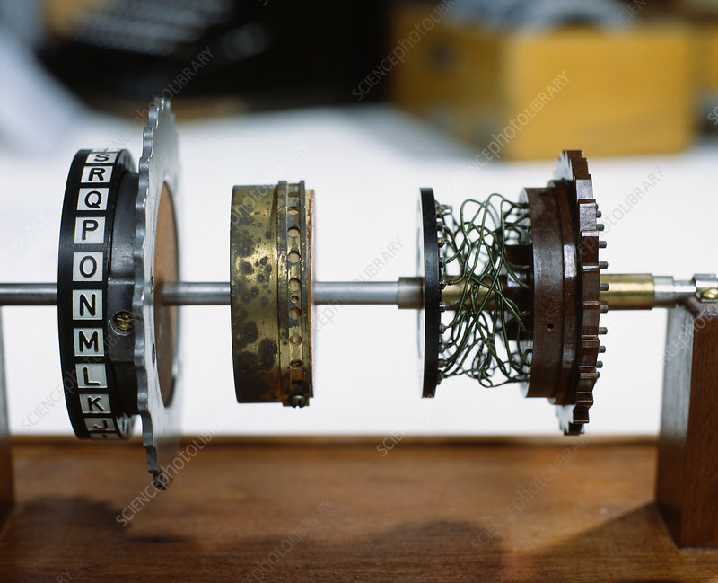 Enigma machine rotor - Stock Image - T404/0108 - Science ...