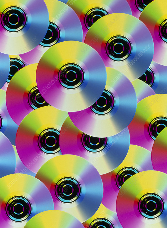 Abstract computer art of compact disks