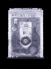 CD drive, simulated X-ray