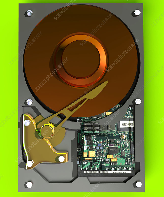 Hard Disk Stock Image T410 0148 Science Photo Library