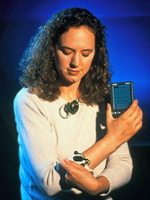 J.Healy with her affective wearable computer