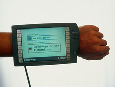 Prototype portable computer tourist guide on wrist