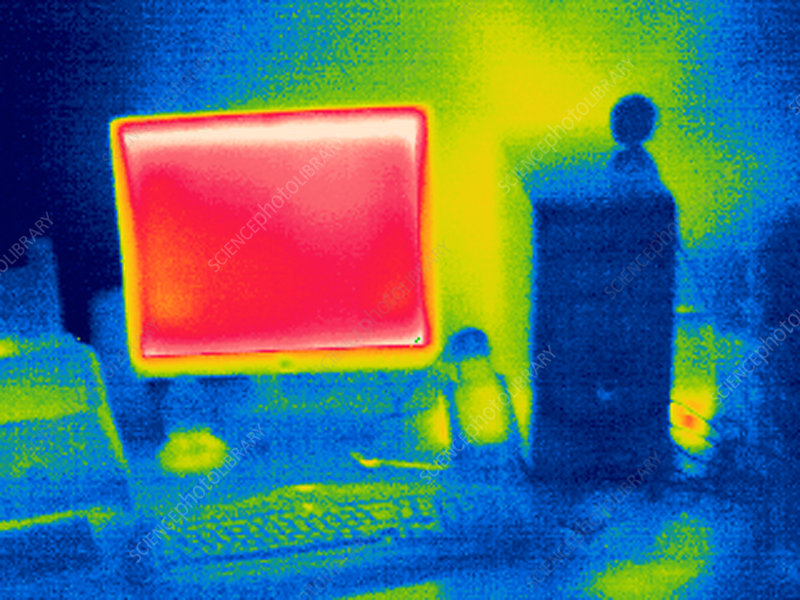 Personal computer, thermogram