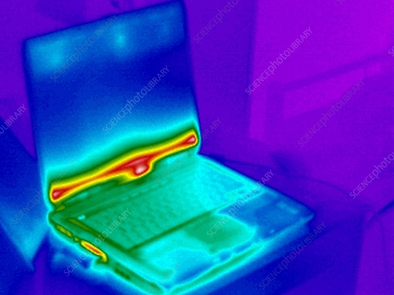 Laptop computer, thermogram