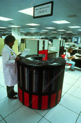A Cray-2 supercomputer