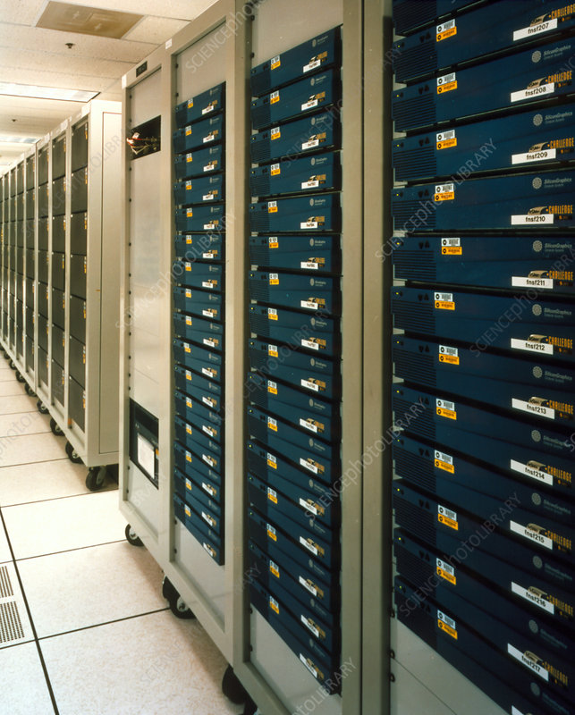 Computer processing units at Fermilab, USA