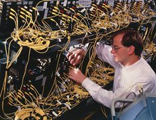 Technician with Bit-Serial Optical Computer, BSOC