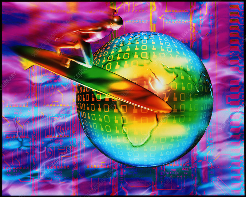 Surfing cyberspace