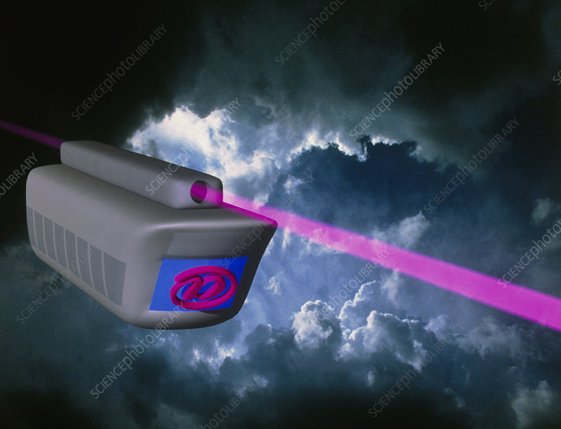 Computer artwork of e-mail train on superhighway