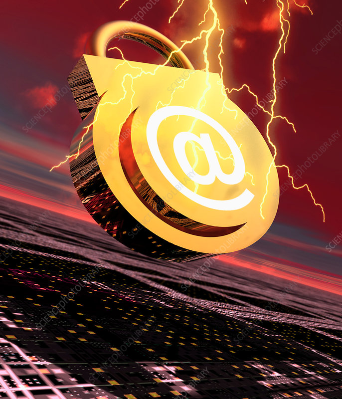 Conceptual image of e-mail security